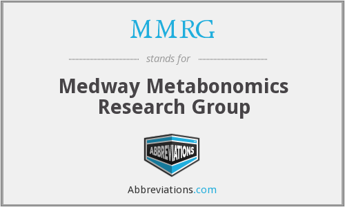 MMRG - Medway Metabonomics Research Group