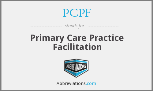 PCPF - Primary Care Practice Facilitation
