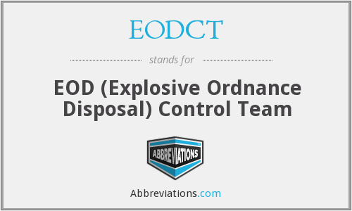 What does EOD stand for?
