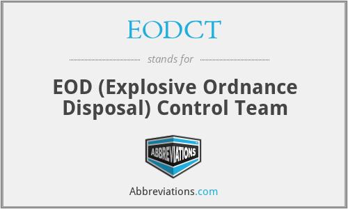 EODCT - EOD Control Team
