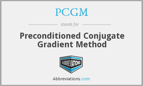 What is the abbreviation for Preconditioned Conjugate