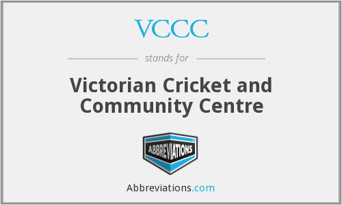 VCCC - Victorian Cricket and Community Centre
