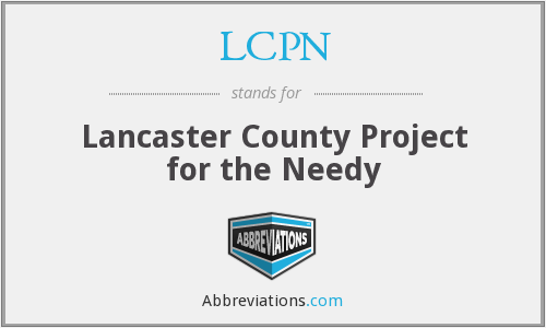 LCPN - Lancaster County Project for the Needy