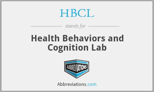 HBCL - Health Behaviors and Cognition Lab