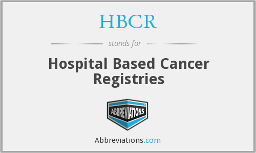 What does HBCR stand for?