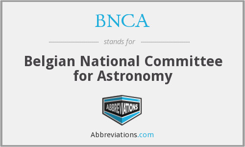 BNCA - Belgian National Committee for Astronomy