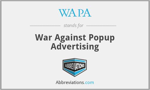 WAPA - War Against Popup Advertising