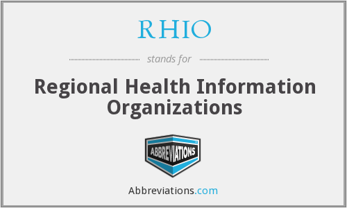 What does RHIO stand for?
