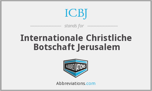 What does ICBJ stand for?