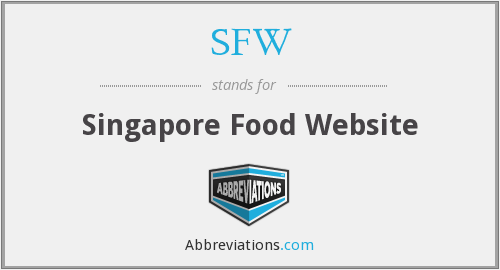 SFW - Singapore Food Website