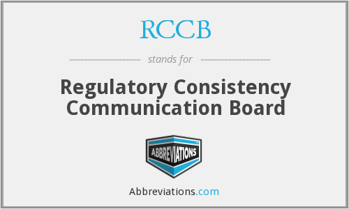 RCCB - Regulatory Consistency Communication Board