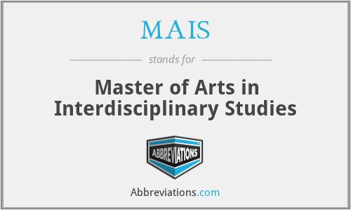 MAIS - Master of Arts in Interdisciplinary Studies
