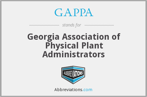 GAPPA - Georgia Association of Physical Plant Administrators
