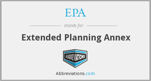 EPA - Extended Planning Annex
