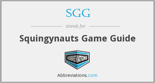 SGG - Squingynauts Game Guide