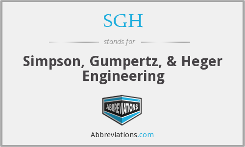 SGH - Simpson, Gumpertz, & Heger Engineering