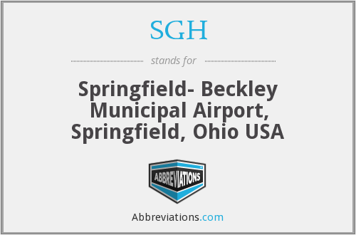 SGH - Springfield- Beckley Municipal Airport, Springfield, Ohio USA