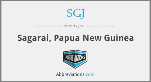 SGJ - Sagarai, Papua New Guinea