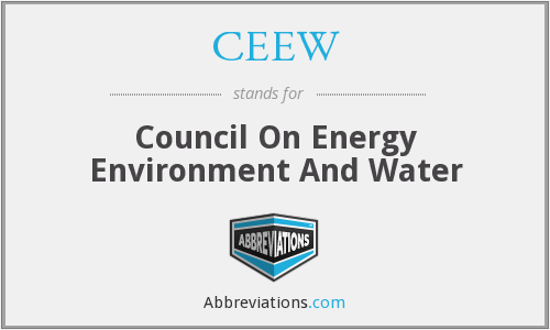 What does CEEW stand for?