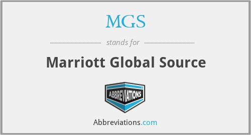 MGS - Marriott Global Source