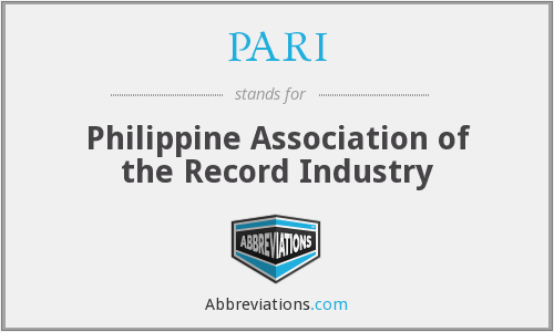 PARI - Philippine Association of the Record Industry