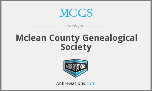 MCGS - Mclean County Genealogical Society