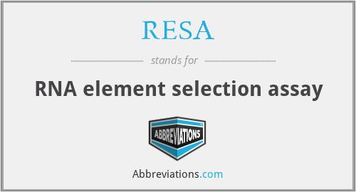 RESA - RNA element selection assay