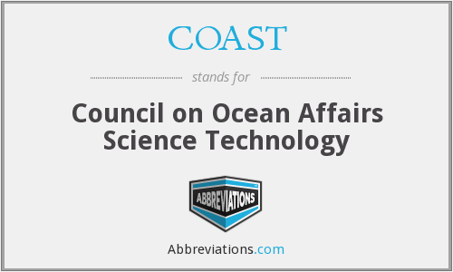 COAST - Council on Ocean Affairs Science Technology
