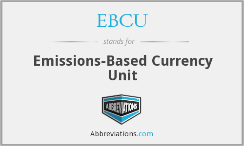 EBCU - Emissions-Based Currency Unit