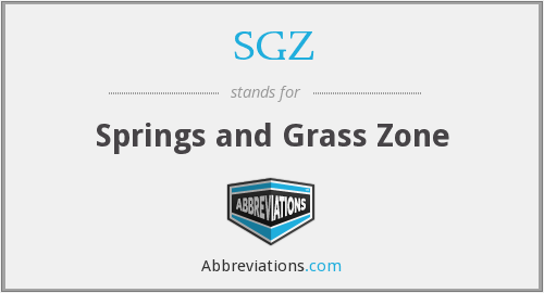 SGZ - Springs and Grass Zone