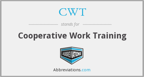 CWT - Cooperative Work Training