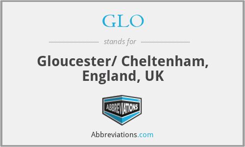 GLO - Gloucester/ Cheltenham, England, UK