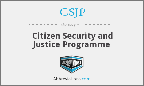 What does CSJP stand for?
