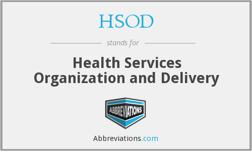 What does HSOD stand for?