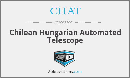 CHAT - Chilean Hungarian Automated Telescope