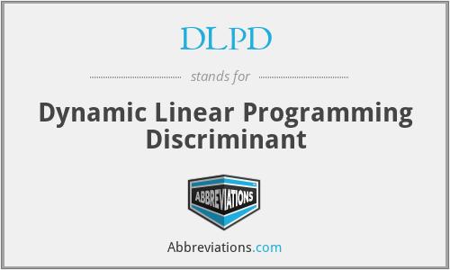DLPD - Dynamic Linear Programming Discriminant