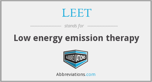 LEET - Low energy emission therapy