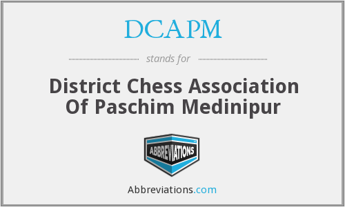 DCAPM - District Chess Association Of Paschim Medinipur