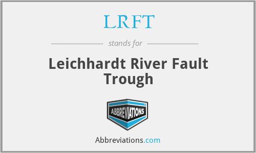 LRFT - Leichhardt River Fault Trough