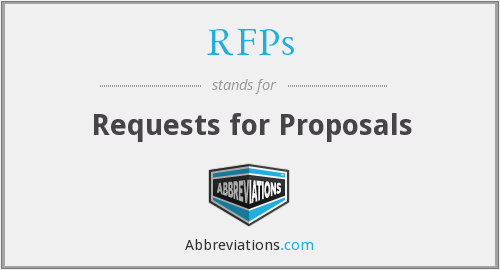 RFPs - Requests for Proposals