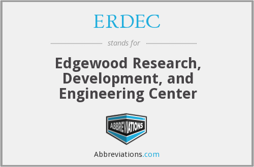 What does ERDEC stand for?