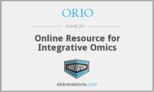 ORIO - Online Resource for Integrative Omics