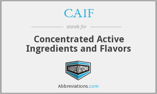 CAIF - Concentrated Active Ingredients and Flavors