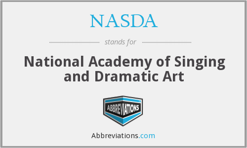 What does NASDA stand for?