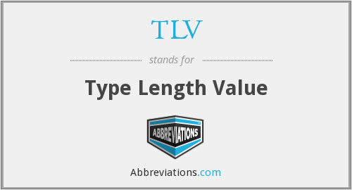 TLV - Type Length Value