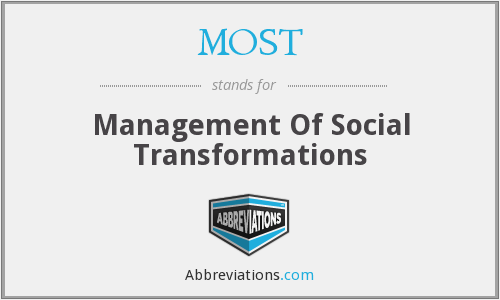 MOST - Management Of Social Transformations