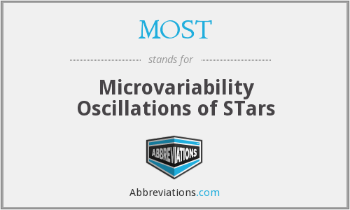 MOST - Microvariability Oscillations of STars