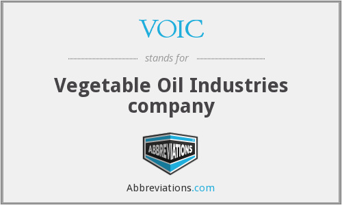 VOIC - Vegetable Oil Industries company