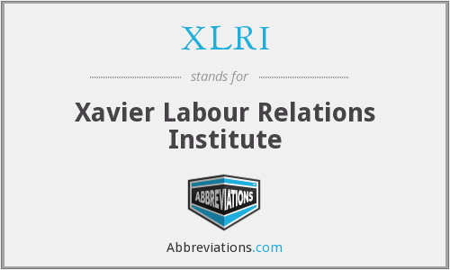 What Does Xlri Stand For