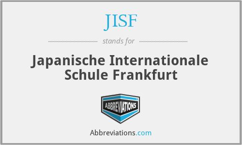 JISF - Japanische Internationale Schule Frankfurt